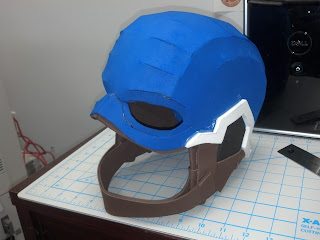 Timbos creations captain america helmet next i gave the outer helmet a coating of plaster wrap i left the inside of the helmet intact so that it remained somewhat comfortable to wear pronofoot35fo Image collections