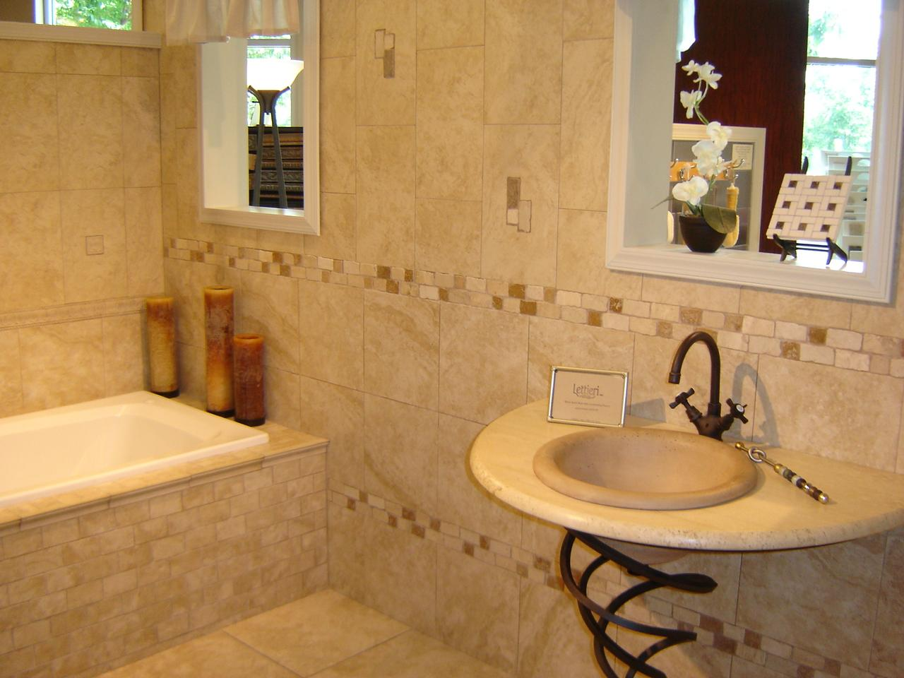 Bathroom tile design ideas for Tile designs for bathroom