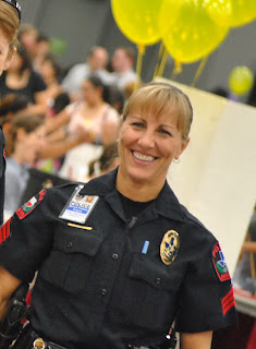 Sgt. Beverly Freshour participates in an open house.