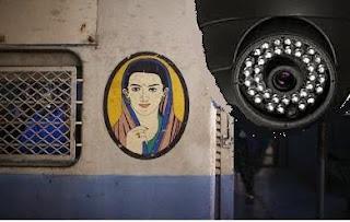 CCTV Camera on Mumbai Ladies Special Coach