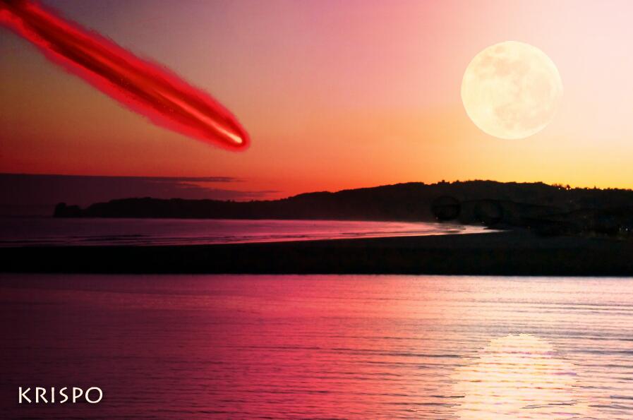 cometa rojo sobre el mar de cancion de hielo y fuego