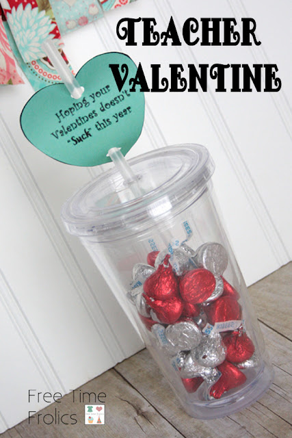 Valentines doesn't suck this year water bottle valentine www.freetimefrolics.com
