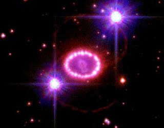Hubble Space Telescope image of supernova 1987A