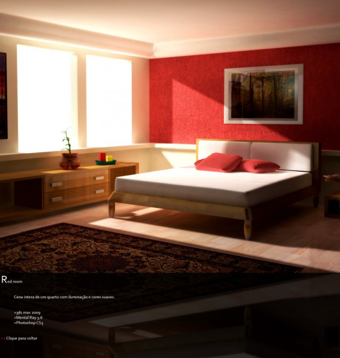 Hogares frescos dise os espectaculares de habitaciones rojas for Interior design for bedroom red