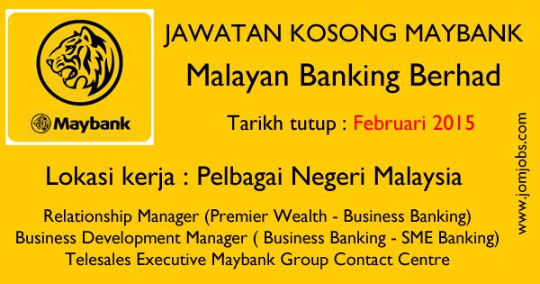 Jawatan Kosong Maybank Terkini - Februari 2015