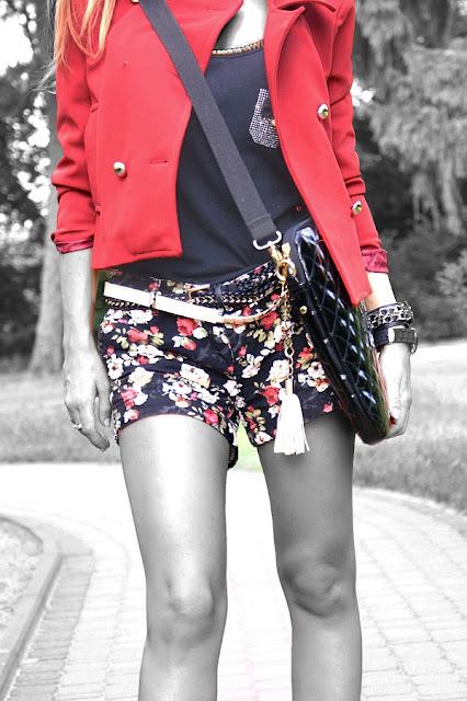 spodnie w kwiatki