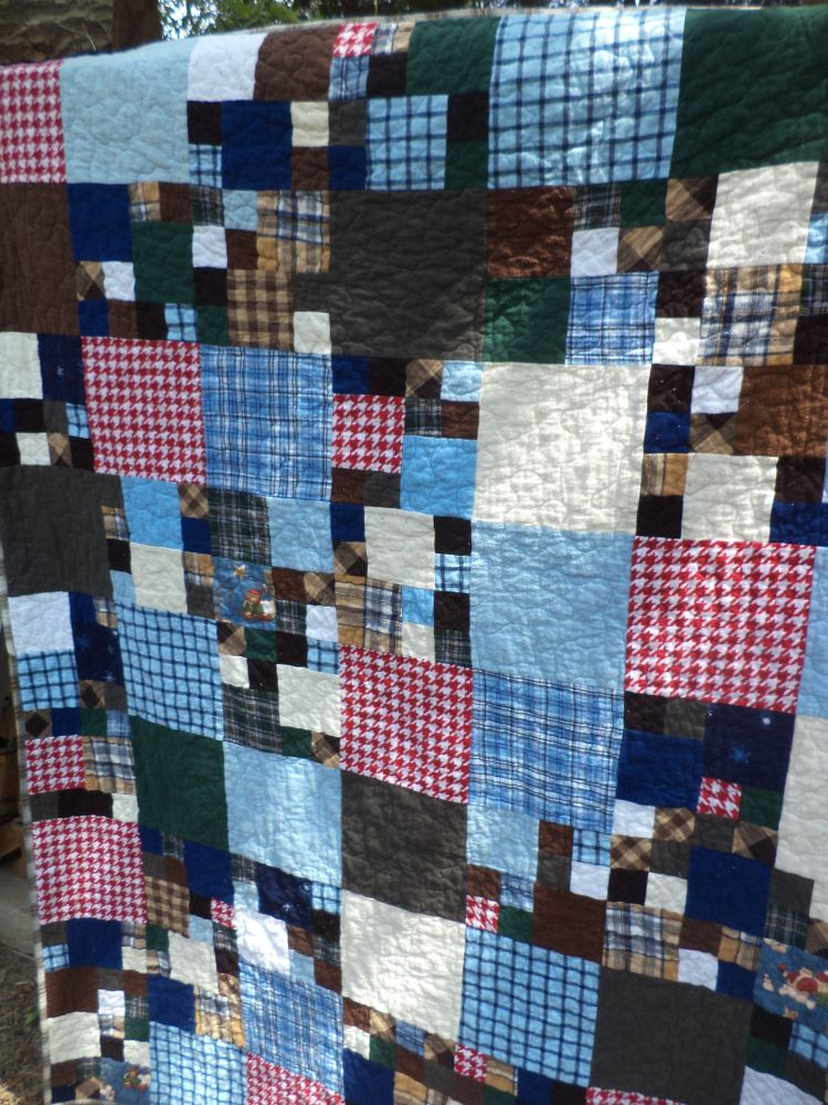Kat & Cat Quilts: Flannel Scraps Quilted for Covered in Love