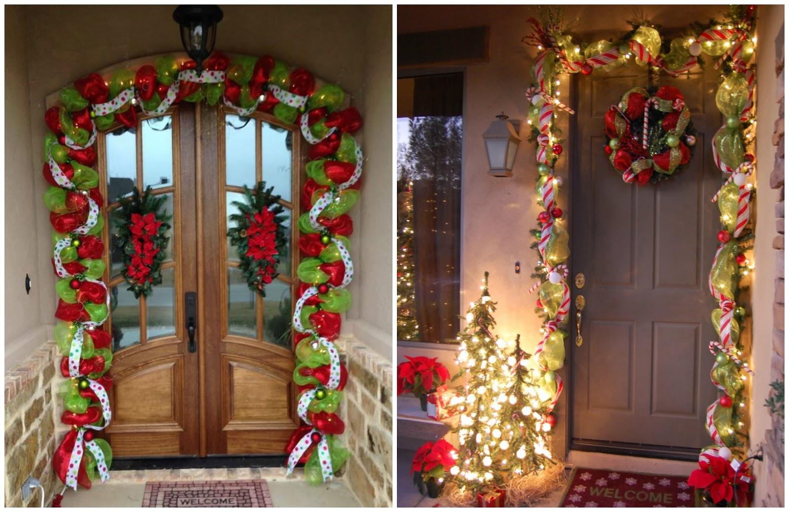 C mo decorar en navidad con guirnaldas de mallas for Decoracion navidad