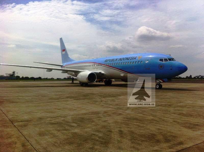 Pesawat Kepresidenan RI Mendarat di Bandara Halim