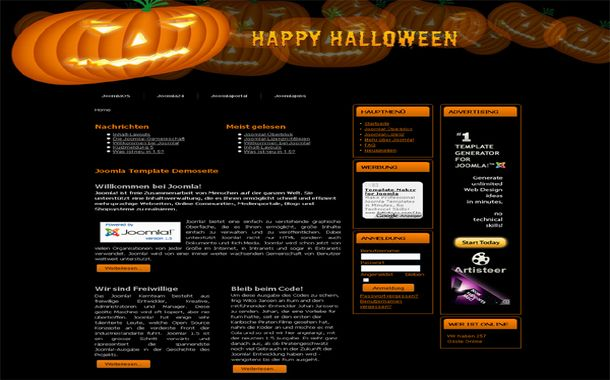 free happy halloween phpfusion theme