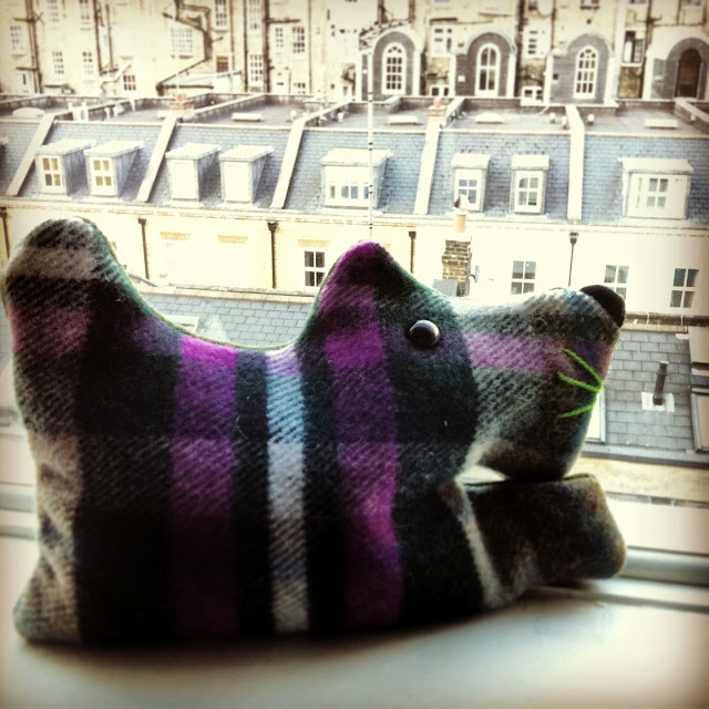 My Lavender Scotty Dog Keeping an Eye on London