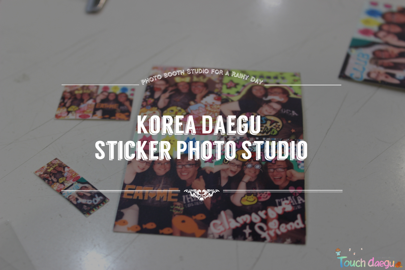 Korea Daegu Sticker Photo Studio in a rainy day