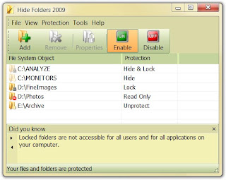 Hide Folders 2009 v3.9 Build 3.9.5.695