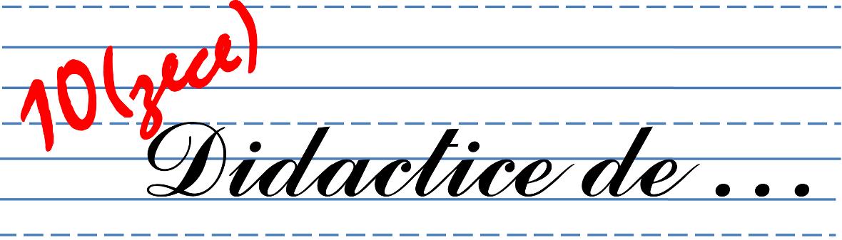 Materiale didactice de 10(zece)
