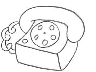 Desenhos Para Colori Telefone residencial desenhar