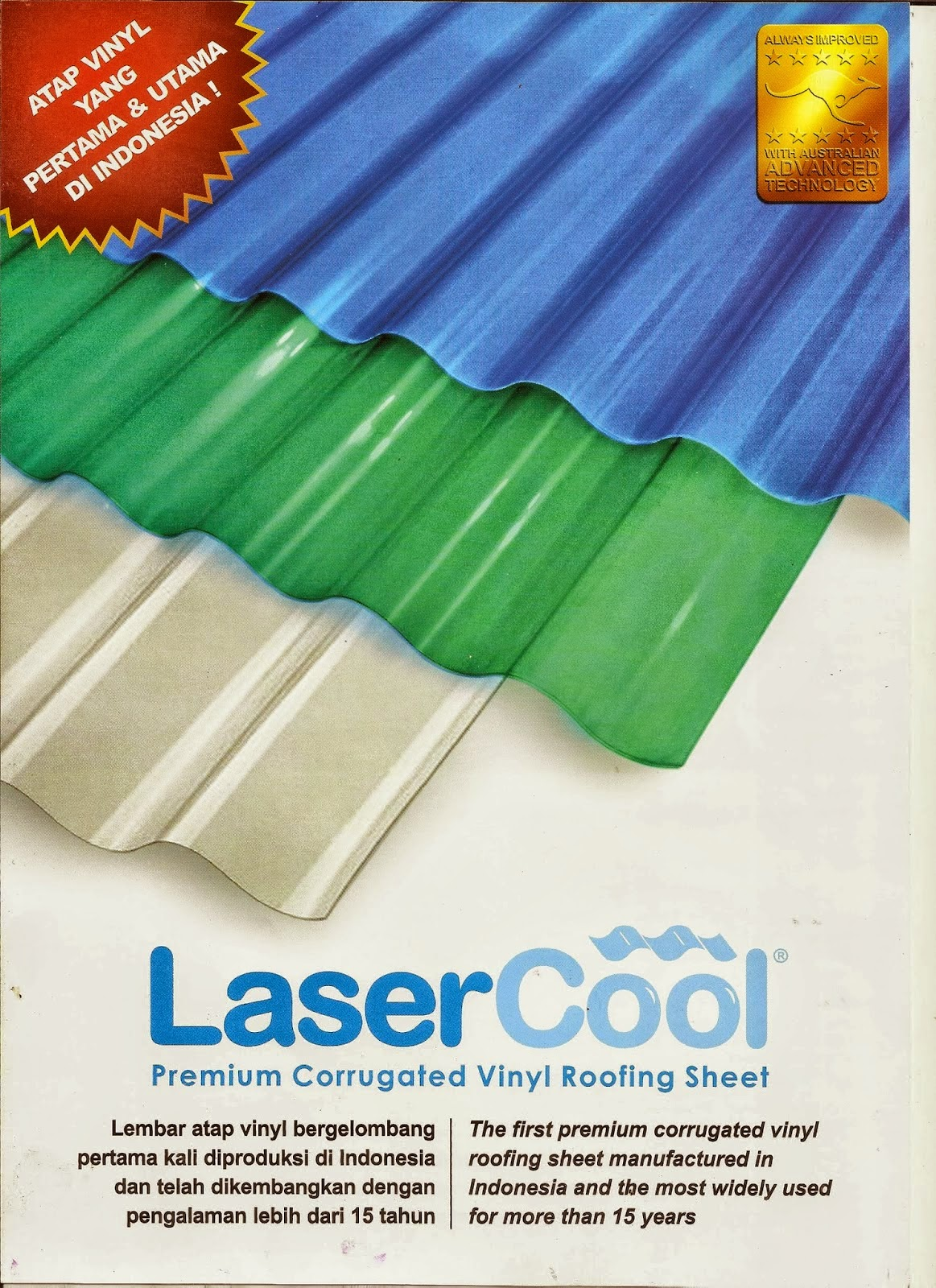 Atap Laser Cool | Atap Transparan | Atap Gelombang | Atap Vinyl