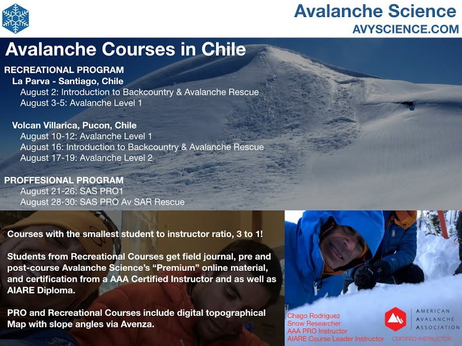 Avalanche Courses - Chile 2018