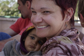 INDIA 2011: DWC Participant Marcia Julian with an infant