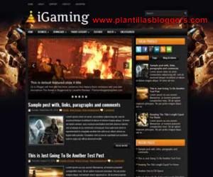 plantilla para blogger iGaming