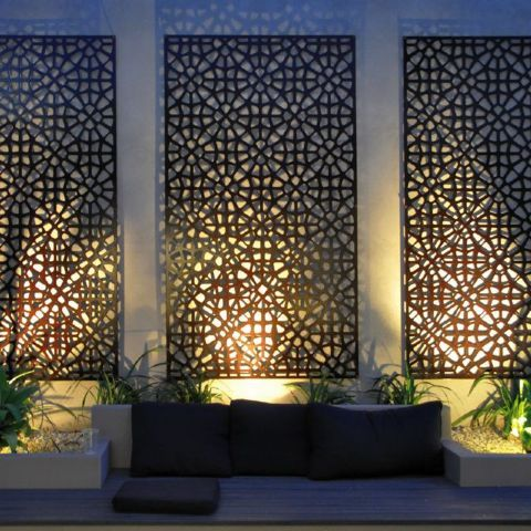 jarrah jungle courtyard ideas outdoor decorative screens. Black Bedroom Furniture Sets. Home Design Ideas