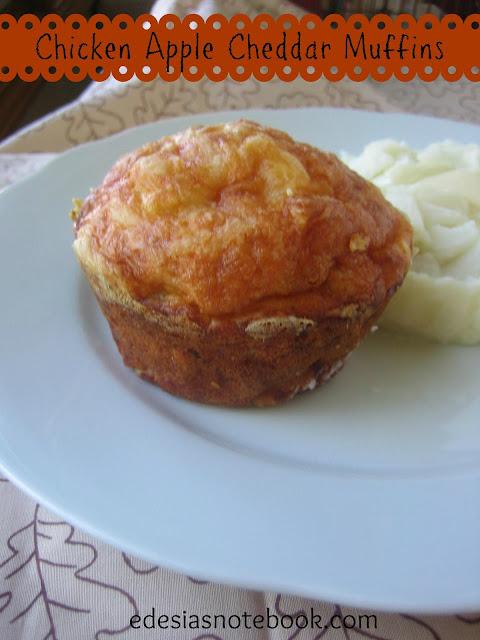 chicken apple cheddar muffins