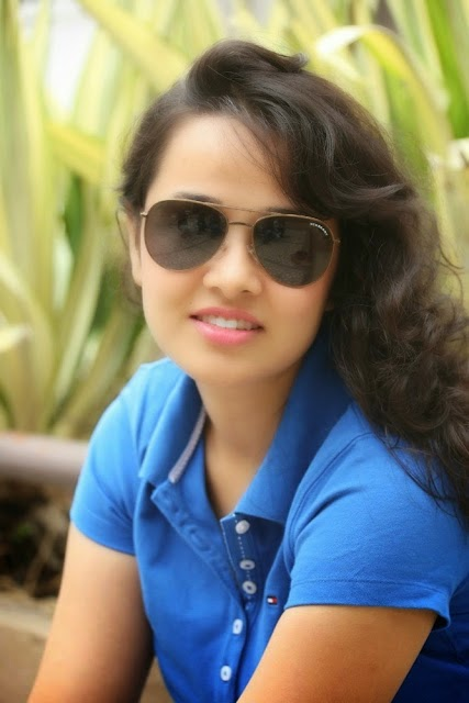 Nisha Kotari Hot Stills in Blue