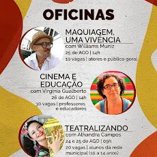 VEJA AS OFICINAS QUE ACONTECERÃO NO CINE AÇUDE GRANDE