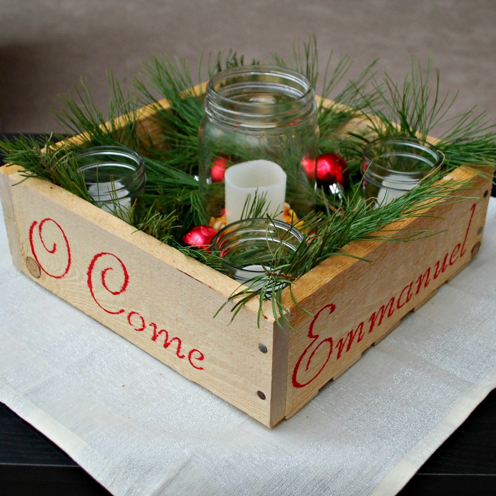 Advent Wreath Decorations Handmade Holidays Advent Wreath Box One Artsy Mama