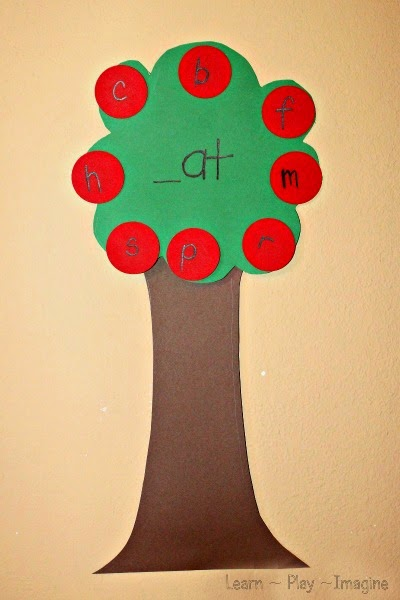 word family apple tree game kindergarten literacy activity for fall
