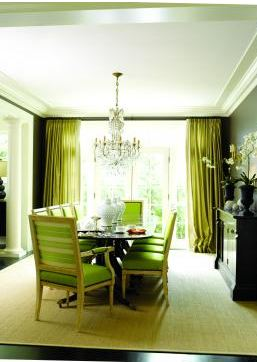 Sea Green Velvet Chairs In Living Room
