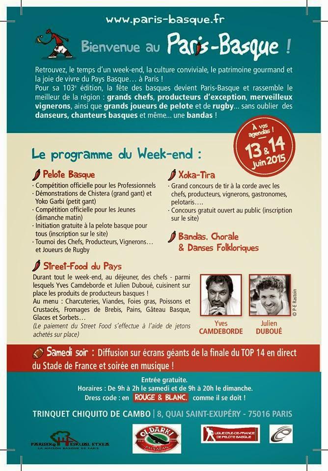 ACTIVIDADES  EN EL CENTRO VASCO DE PARIS