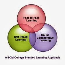 vinn diagram listing types of blended learning
