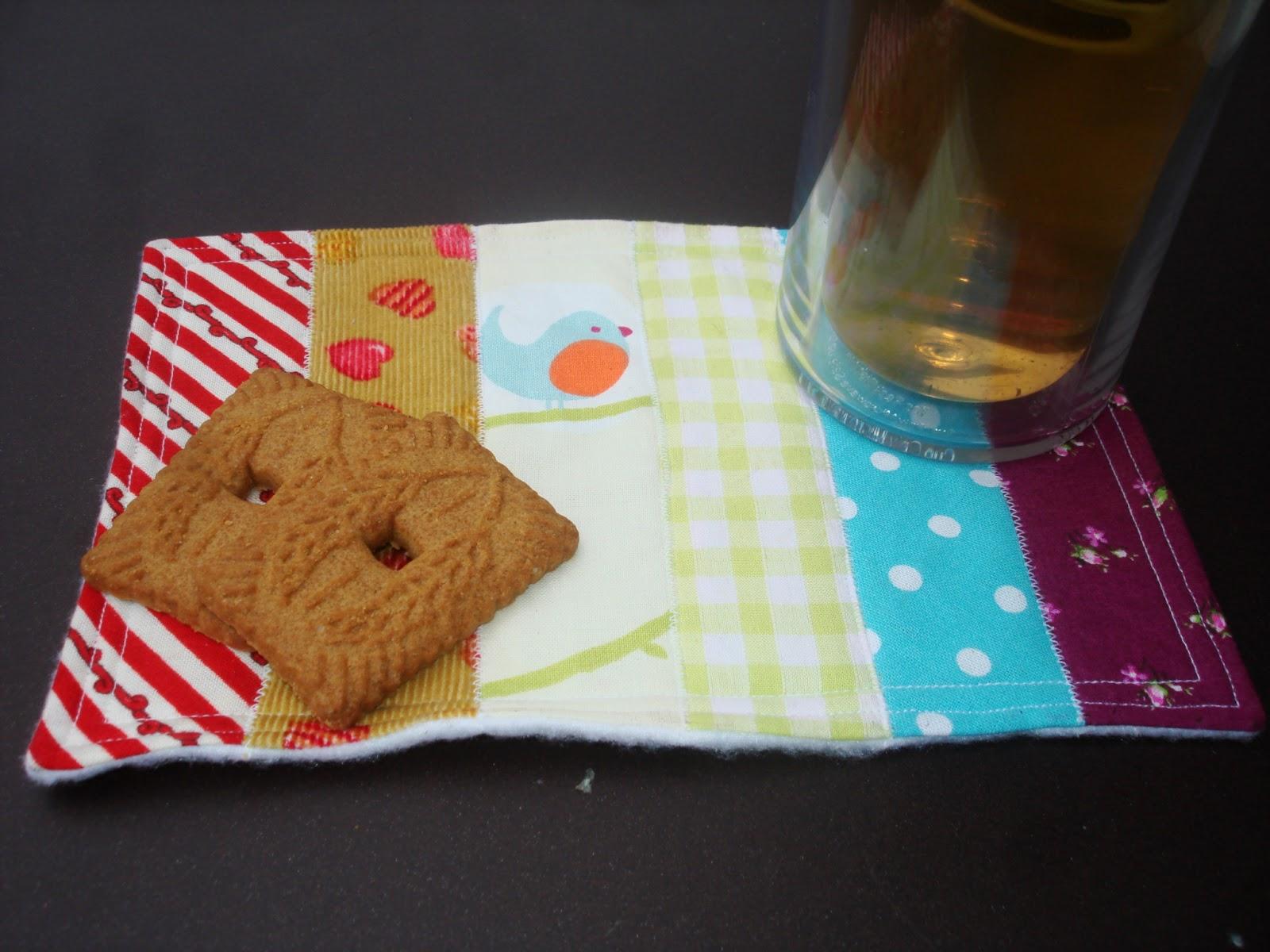 Mini-set mug rug arc en ciel pour le thé