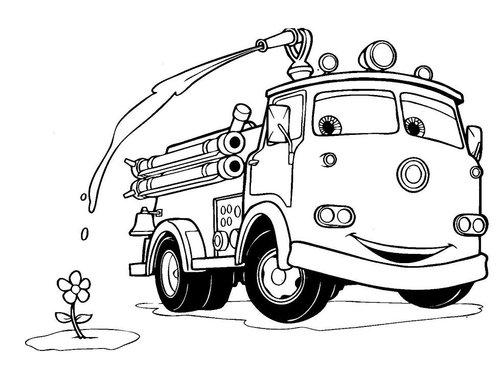 Image Result For Gambar Mewarnai Mobil Pemadam Kebakaran
