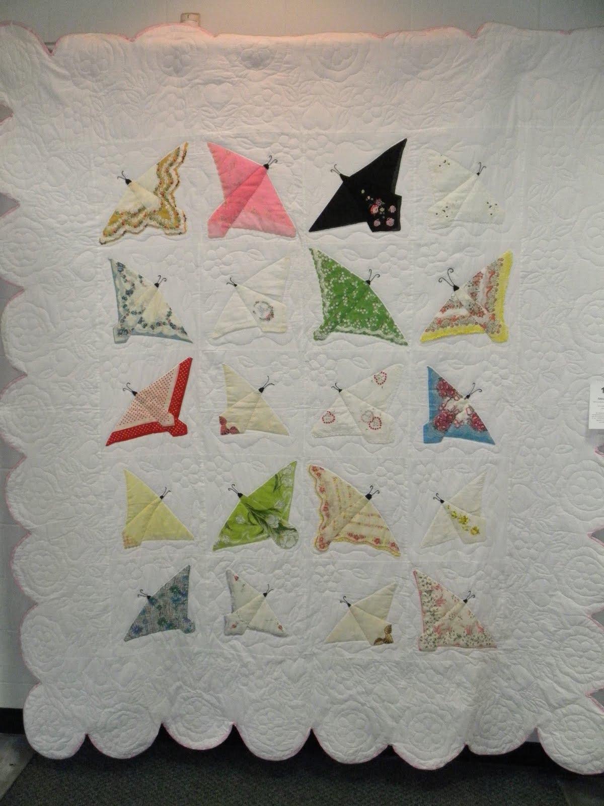 Mitralee Vintage Handkerchief Butterfly Quilt