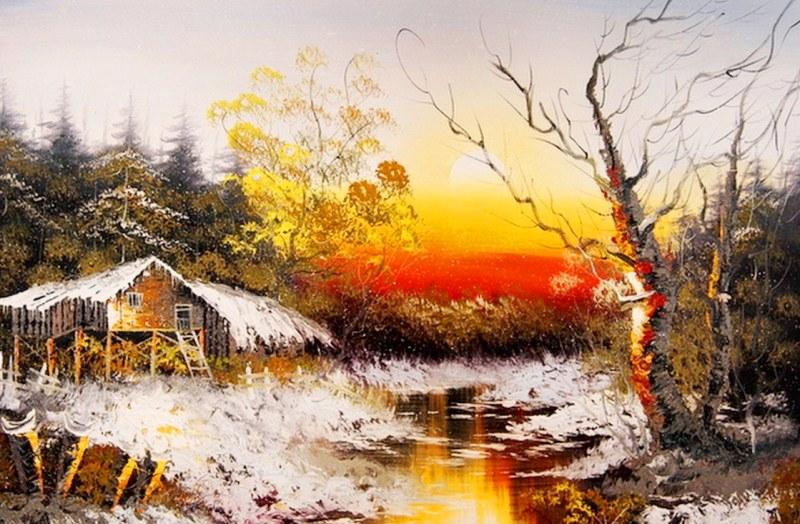 Im genes arte pinturas cuadros de paisajes f ciles para - Cuadros para pintar en casa ...