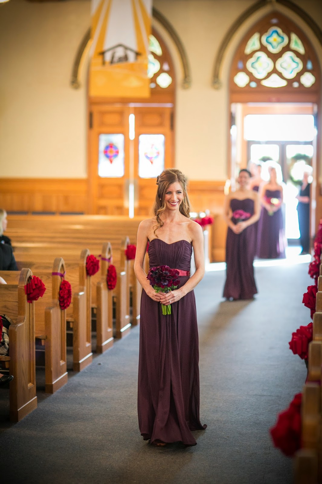 purple bridesmaid dress : purple anemonie : les fleurs : zev fisher