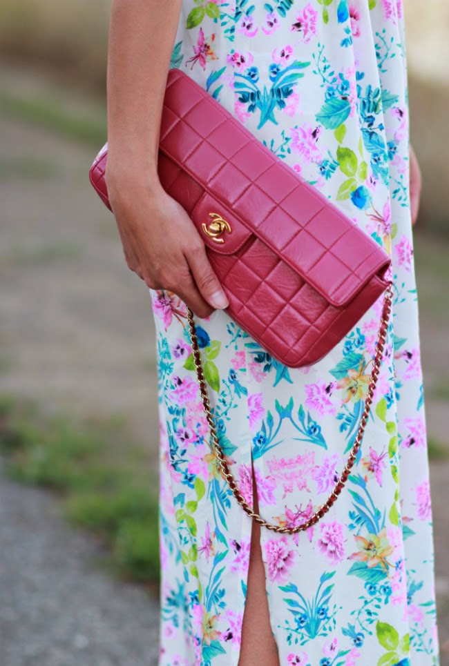chanel classic flap pink fuchsia bright