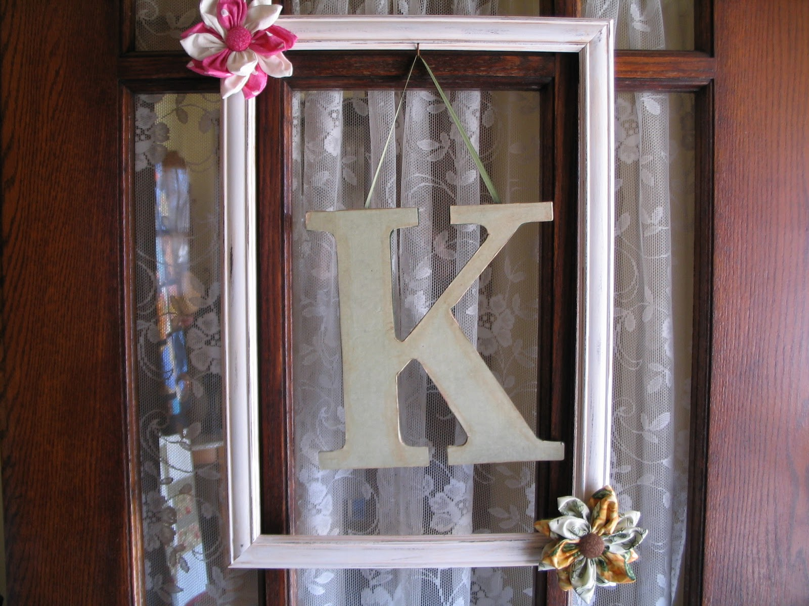 It is just a Goodwill frame that I painted off white and added the title=