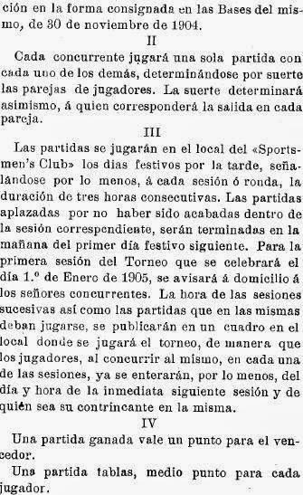 Recortes sobre Torneo de Ajedrez para el Campeonato de Cataluña disputado en 1905 en Barcelona (2)