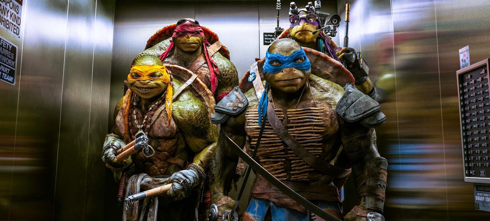 Cena estendida, imagens inéditas e pôsteres de personagens de As Tartarugas Ninja, com Megan Fox