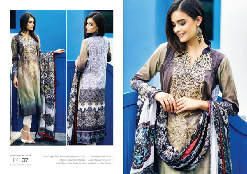 Resham Ghar Eid Lawn Collection for Girls 2015