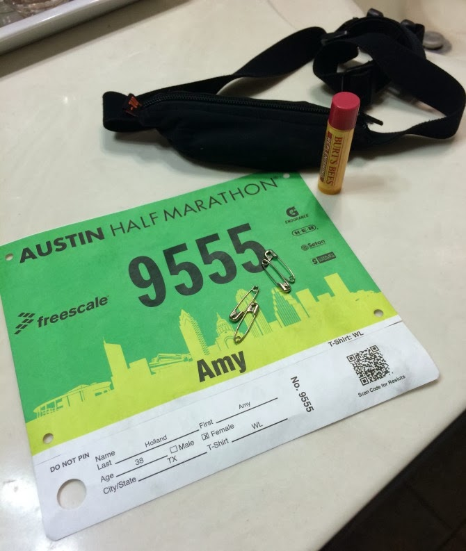 The Holland House: Austin Half-Marathon Race Bib