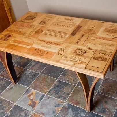 Wine Crate Dining Table With Wine Barrel Legs. This Is A Lovely, All Napa  Valley Wine Crate Panel Table Top.