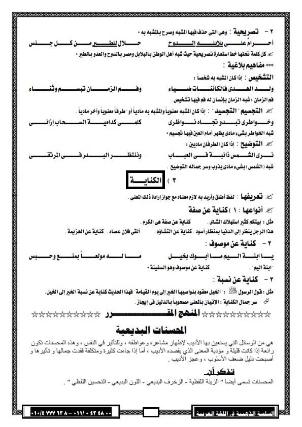 """لغة عربية: بالصور شرح بلاغة """"2"""" ثانوي وتدريباتها ترم اول لـ 2016 - صفحة 2 %D8%A8%D9%84%D8%A7%D8%BA%D8%A9+2013_003"""