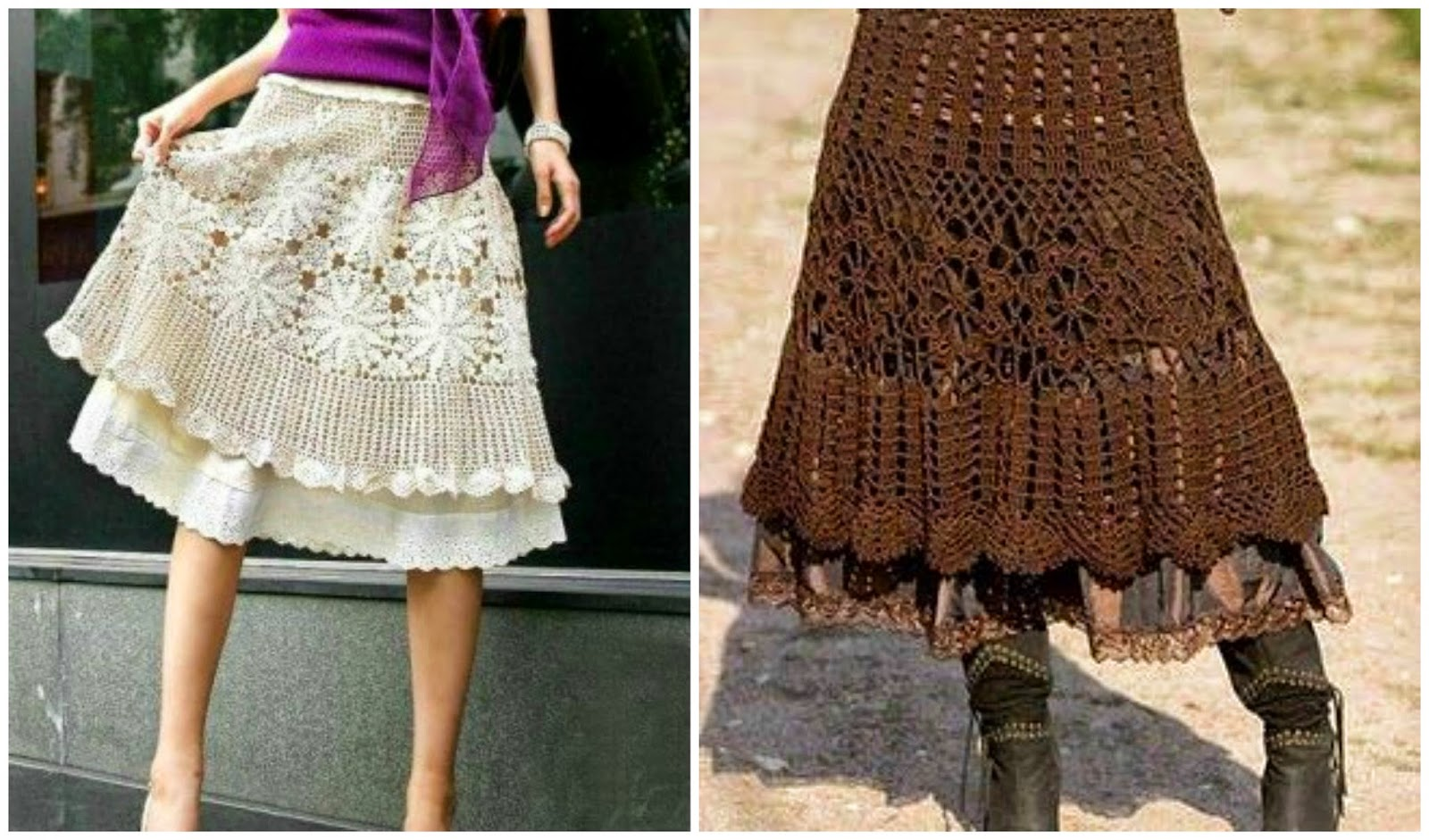 Crochet Patterns Skirt : Skirt 5 Skirt 6