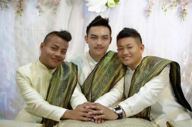 Three Thailand Men 'Marry' Each Other