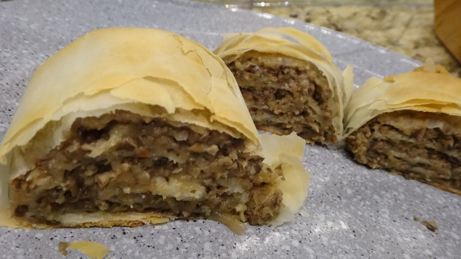 want to cook that: Mushroom Strudel