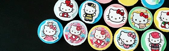 Header picture of Hello Kitty edible image cupcake