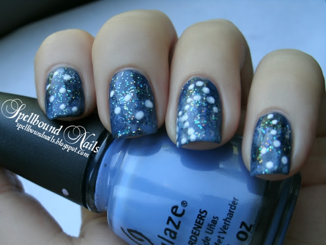 night sky constellations nails nailart nail art mani manicure galaxy stars